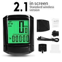 2.1 Green-Wireless-INBIKE Waterproof Bicycle LED Digital Rate Wireless/Wired MTB Bike Odometer Stopwatch Speedometer