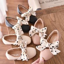 kids shoes 2020 new spring girls fashion genuine leather shoes princess party flats children black mary jane footwear flower Children Casual Shoes New Fashion Kids Princess  Girls Bowtie Cute Autume Flats Sweet   Leather