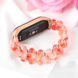 Image 2 - FOHUAS Agate strap for Xiaomi Mi Band 3 4 Sport Strap watch Silicone wrist strap For xiaomi mi band 3 4 bracelet Miband 4 woman