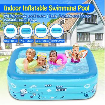 110-200cm Children Bathing Tub Baby Home Use Paddling Pool Inflatable Square Swimming Pool Kids Inflatable Pool Freeshipping Activity & Gear