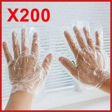 200 шт./компл. Еда Пластик перчатки одноразовые перчатки для ресторана Кухня барбекю eco-friendly Еда перчатки для фруктов и овощей, перчатки