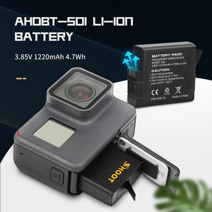 Image 2 - SHOOT Dual / Triple Port Battery Charger with 1220mAh Battery for GoPro Hero 8 7 6 5 Black Camera for GoPro 8 Changing Accessory