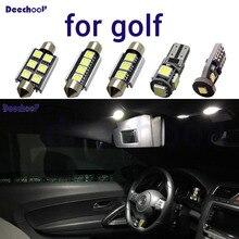 Чистый белый безошибочный светодиодный автомобильный светильник для Volkswagen для VW Golf 2 3 4 5 6 7 MK2 MK3 MK4 MK5 MK6 M7, внутренний купольный светильник