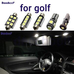 Image 1 - Czysty biały wolne od błędów żarówki LED samochodowe dla volkswagena do VW Golf 2 3 4 5 6 7 MK2 MK3 MK4 MK5 MK6 M7 światło górne do wnętrza kabiny samochodu zestaw
