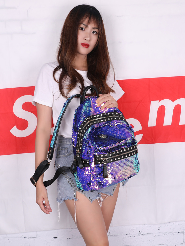 SHEE Set Auger Shining Sequins Backpack Women Backpack School For Girl Travel Large Capacity Bags Party Bags Glitter Backpack