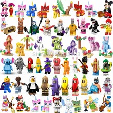 Para legoings amigos princesa unikitty mickey óculos kitty pato donald batman sino coringa brinquedos blocos legoing amigos(China)
