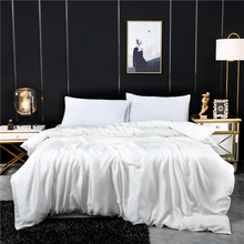 Duvet cover 100 mulberry silk Solid color Quilt Cover high grade real silk Queen King Comforter