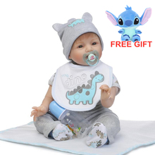 55cm reborn baby doll boy simulation dolls and the clothes playmate kids toys Christmas birthday gifts photography props cheap Star Product 3 years old Baby Dolls Fashion Doll In-Stock Items Silicone Soft Educational Mini Unisex 0603-8 Occupations