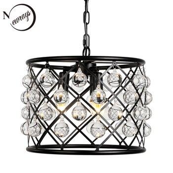Промышленная Ретро хрустальная лампа подвесная декоративная E14 гостиная спальня Внутреннее освещение лампа кухня Лофт подвесной светильн...