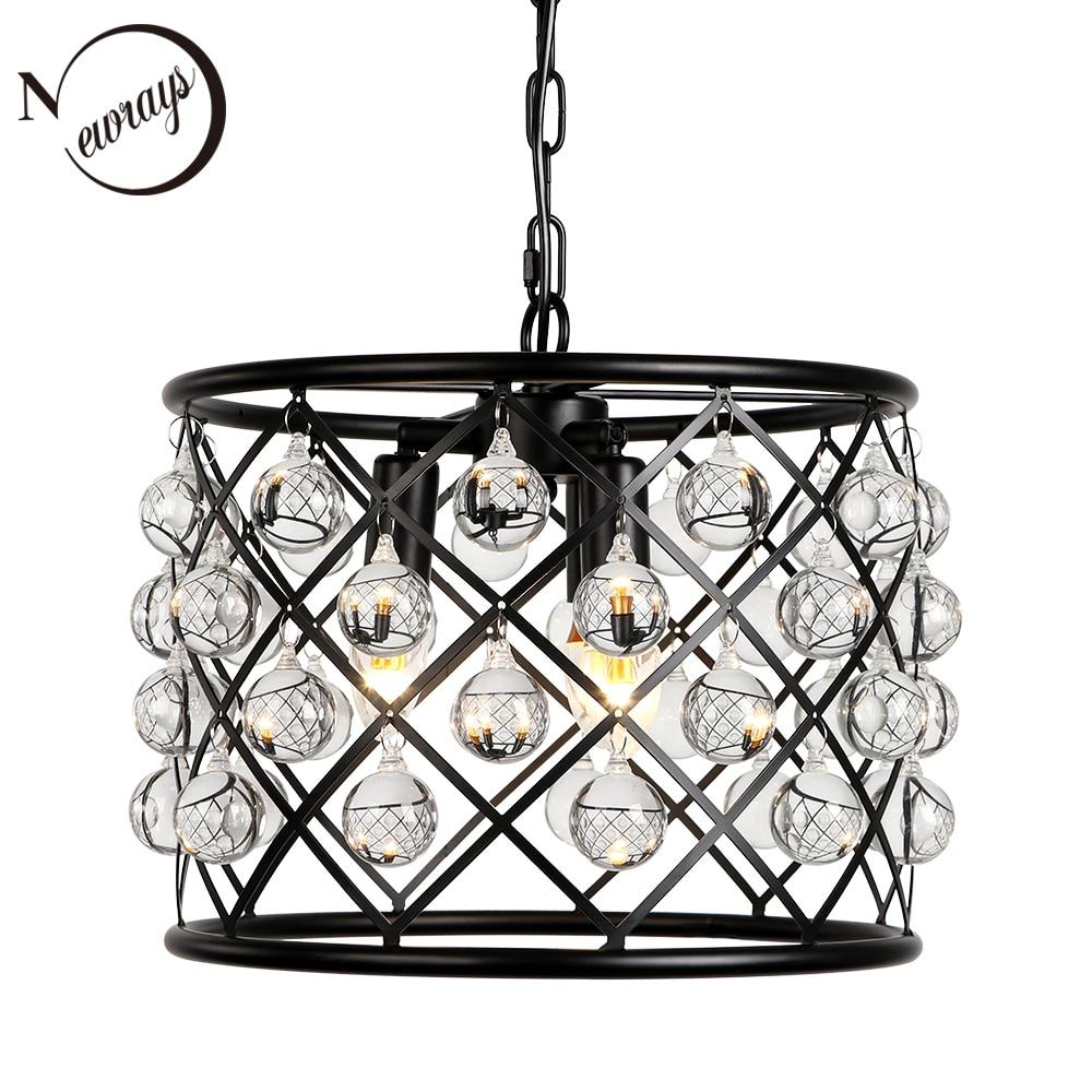 Industrial retro crystal decorative pendant lamp E14 living room bedroom interior lighting lamp kitchen loft hotel pendant light-in Chandeliers from Lights & Lighting