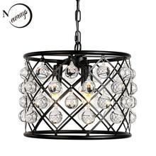 Industrial retro crystal decorative pendant lamp E14 living room bedroom interior lighting lamp kitchen loft hotel pendant light