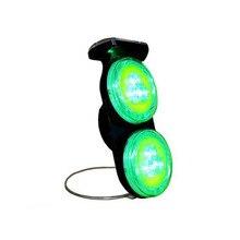 Зеленый светодиодный солнечный конус Предупреждение светильник с 10 шт. супер яркий светодиодный светильник на солнечной энергии, Предупреждение светильник