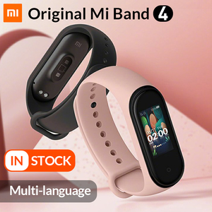 Image 1 - In Stock Original Xiaomi Mi Band 4 Smart Band4 Wristband Fitness Bracelet Music Bracelet Bluetooth 5.0 AMOLED Color Touch Screen