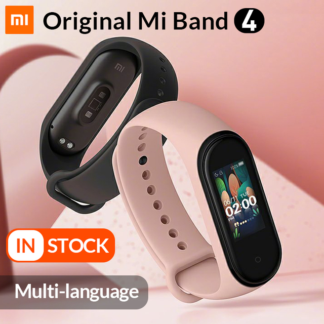 In Stock Original Xiaomi Mi Band 4 Smart Band4 Wristband Fitness Bracelet Music Bracelet Bluetooth 5.0 AMOLED Color Touch Screen