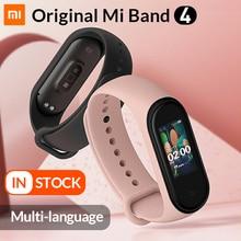 В наличии оригинальный браслет Xiaomi Mi Band 4 Smart Band4 фитнес браслет Музыкальный браслет Bluetooth 5,0 AMOLED цветной сенсорный экран