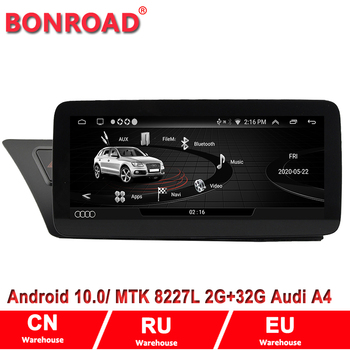 Bonroad Android 10.0 Car multimedia Player for Audi A4 B8 A5 2009 2010 2011-2016 WIFI 4G LTE Carplay Touch Screen GPS Navigation image