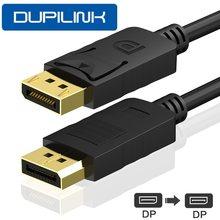 DisplayPort ekran portu kablo DP kablo DP1.2 1080P 3D DP ses Video kablosu 1.8m 3m 5m m TV grafik kartı projektör