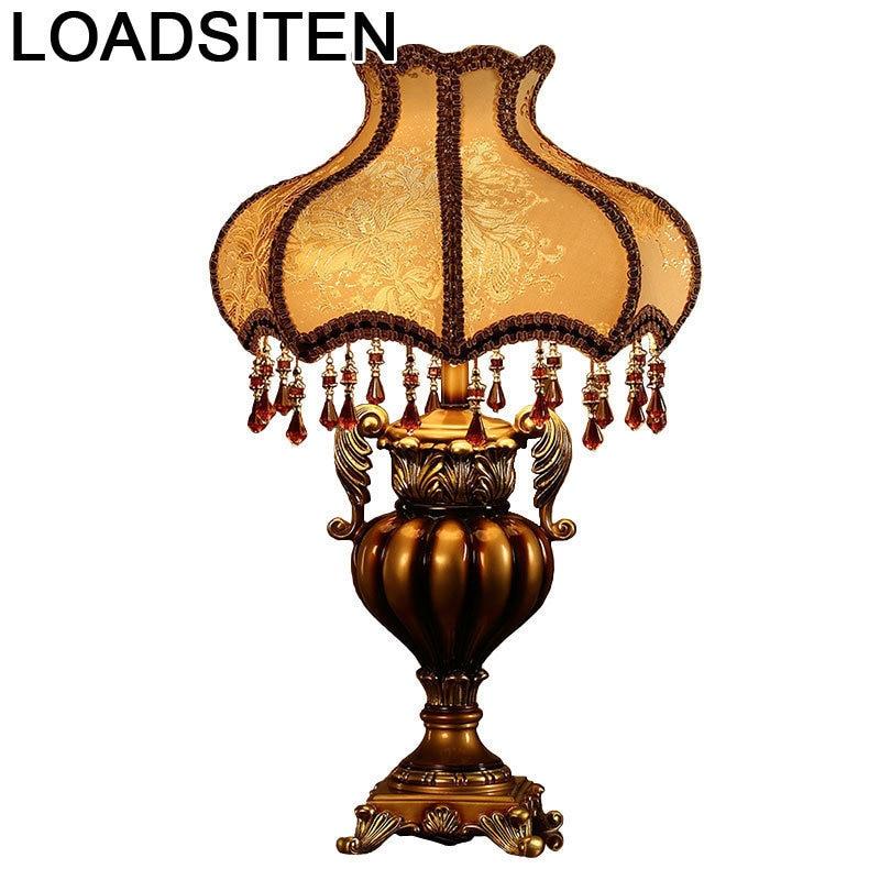 Da Tavolo Noche Schemerlamp Lampe Lamp For Bedroom Deco Maison Luminaria Lampara De Mesa Para El Dormitorio Table Bedside Light in Table Lamps from Lights Lighting