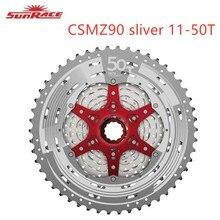 Sunrace CSMZ90 Cassette 12 vitesses argent rouge noir rouge VTT vélo 11 50T pour moyeu Shimano 11/12 vitesses