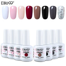 Elite99 Gel Unha Polonês Verniz Gel Tinta Semi Permanente Gellak Top Coat Unhas de Gel Arte Unha Polonês Para Manicure Híbrido cartilha(China)