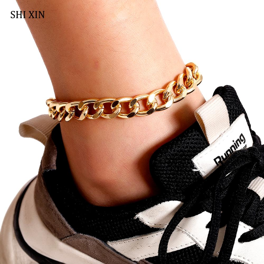 SHIXIN Chunky Chain on Foot Bracelet on the Leg Charms Anklets Bracelet for Ankle Women 2020 Ankle Bracelet Female Jewelry Gifts