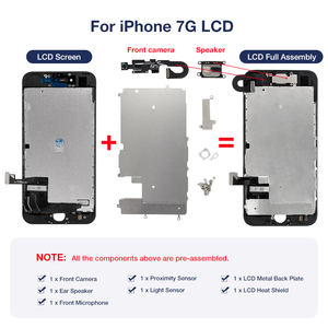 Image 5 - OEM LCD For iPhone 7 7 Plus Display Full Set Digitizer Assembly 3D Touch Screen Replacement +Front Camera+Earpiece Speaker+Gifts