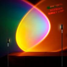 Sunset Lamp For Living Room Bedroom Decoration Modern Atmosphere Floor Lamp Nordic LED Floor lamps USB charging