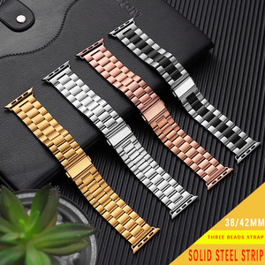 Stainless Steel For Apple Watch Band 42mm 38mm Series 6 SE 5 4 3 2 1 Replacement For iWatch Strap Metal Belt watchband 44mm 40mm