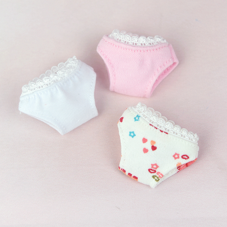 Whiter Panties For Barbie Doll 1/6 BJD Blythe Clothes Cute Pink Barbie Clothes Briefs Accessories  Baby Toy Underwear Girl Gift