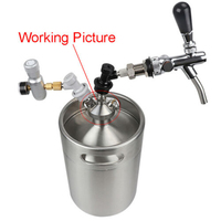 Growler Beer Keg Spear Tap Dispenser Lock Non toxic Corrosion Resistant No Rust Bar Kitchen Wine Beer Accessory