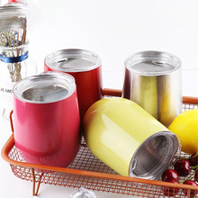 Thermos Cup Double Vacuum Stainless Steel Insulated Wine Coffee Beer Tea Cups Flask Egg Shaped Kids