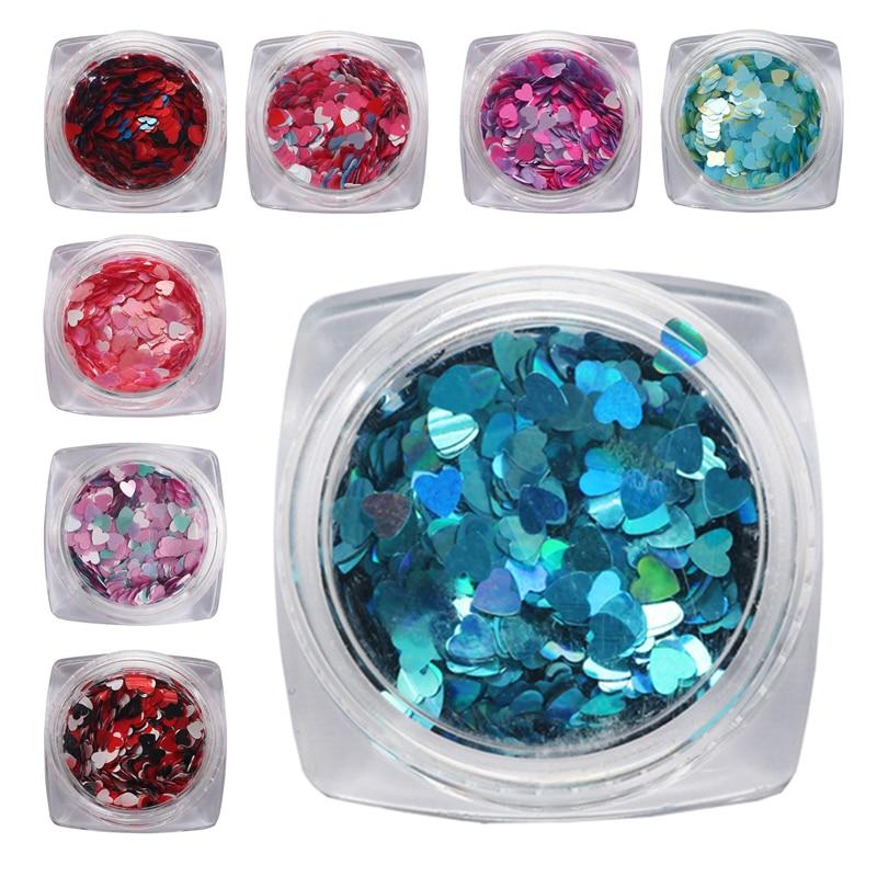 1 Box Nail Sequins Paillette Jewelry Nail Sequins Glitter Nail DIY Mixed Nail Glitter Flash 3D Flakes Slices Nail Art Decoration