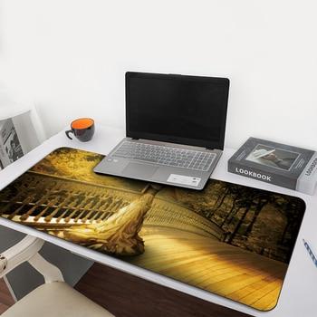 Alfombrilla de ratón de princesa solitario con borde de bloqueo XL, alfombrilla de ratón grande para jugar en la oficina, alfombrilla de ratón, juego de ordenador, tableta, alfombrilla de escritorio