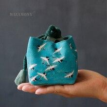 Wizamony контейнер для образцов и кастрюль тканевый мешок хлопок и лен чай Cozies сумки для хранения утолщаются с мягким ворсом Hop-pocket тканевый мешок
