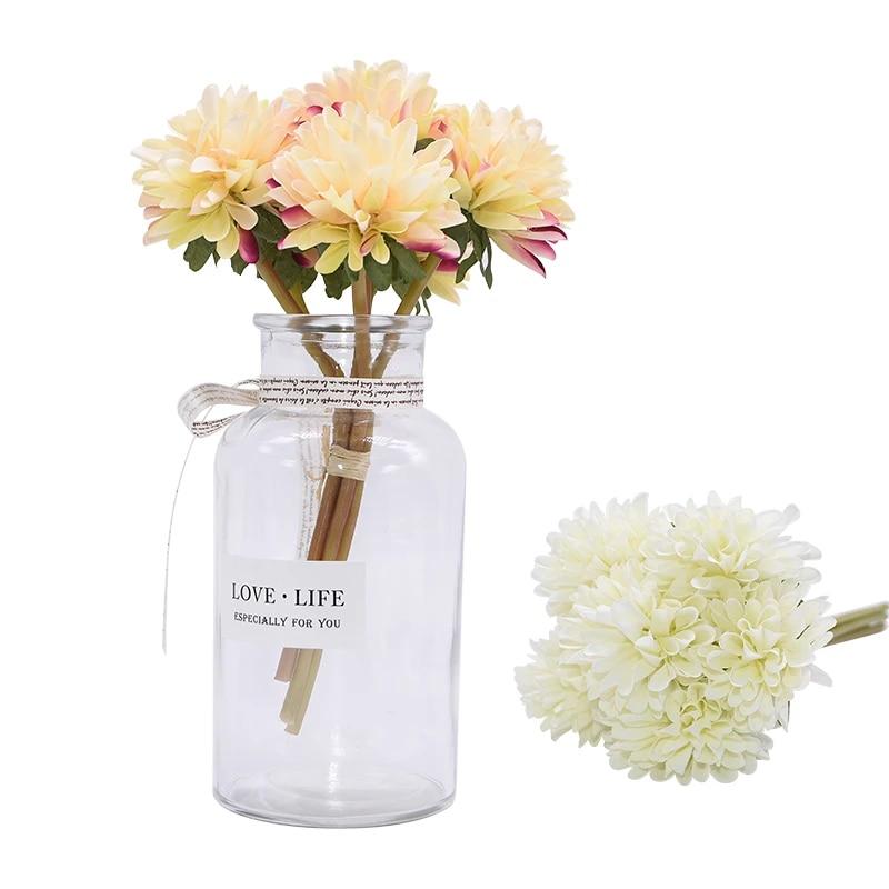 Satin White Ruffle Gold Trimmed Rose Bouquet  8 Flowers  Bridal  Floral Arrangement  Wedding Favors  Millinery  Decor NEW ITEM