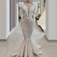 2020 New Couture Dubai Evening Dresses For Weddings Vestidos Glitter Mermaid Prom Dress Abendkleider Saudi Arabia Party Gowns