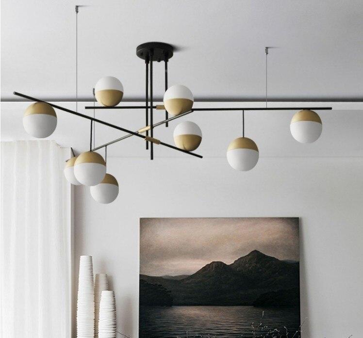 Moderno e minimalista ristorante bar multi testa molecolare rotante lampade a sospensione Nordic camera da letto comodino luci del pendente del metallo - 2