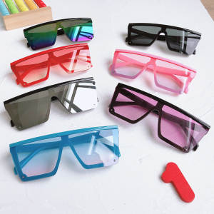 Child 2020 Fashion Plastic Kids Square Sunglasses Children Pink Sun Glasses Girls Boys Baby Sunglasses UV400 Oculos