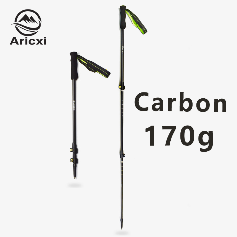 Сверхлегкий Регулируемый Треккинговый полюс Aricxi, походный полюс, тропа для бега, тропа из углеродного волокна
