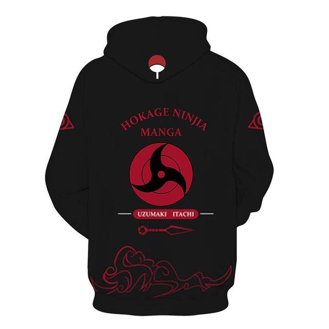 Anime Naruto Men/women 3D Hoodies Sweatshirt Fashion Sasuke Kakashi Cartoon Casual Harajuku Hoody Autumn Thin Coat Streetwear 6