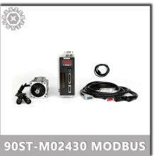 Modbus ile 220V 750W 90ST M02430 AC Servo motor 3000RPM 2.4 N.M Servo motor tek fazlı ac sürücü kalıcı mıknatıs uyumlu sürücü