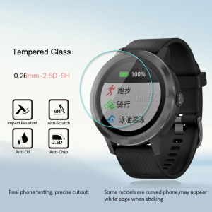 1Pcs 9H 0.26mm Tempered Glass Film Skin For Garmin Vivoactive 3 Watch Screen Protetor Smart Accessories Protection Cover TXTB1