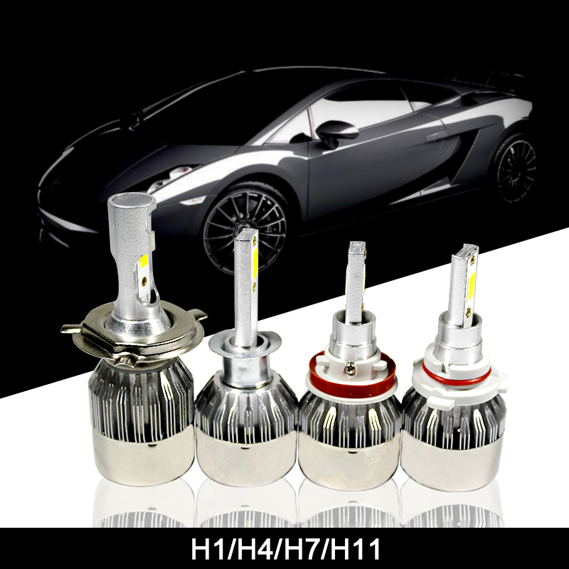 1PCS H 1 4 7 11 LED Cars Headlights Bulb 36W Waterproof 6000K COB Autos Lamp 3800LM 12V Personality Modeling Light