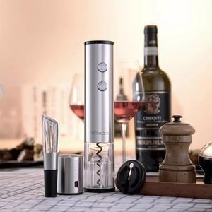 Image 2 - Xiaomi Circle Joy Electric Bottle Opener Stainless Steel Mini Wine Stopper Wine Decanter Smart Wine Set Gift