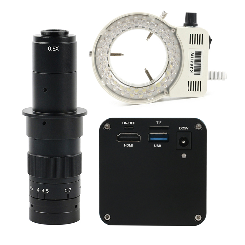 1080P 12MP HDMI <font><b>USB</b></font> Auto Focus Autofocus SONY IMX226 Video Microscope Camera + 180X C Mount Lens Focus Stacking PC Measurement image