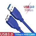 Micro B USB 3,0 кабель 5 Гбит/с внешний жесткий диск HDD кабель для Samsung S5 Note3 Toshiba WD Seagate HDD кабели для передачи данных