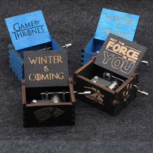 Antiken Geschnitzten Holz Star Wars Game Of Thrones Musik Box Bewegung La Vie En Rose Musical Boxen Caja De Musica drop Verschiffen(China)