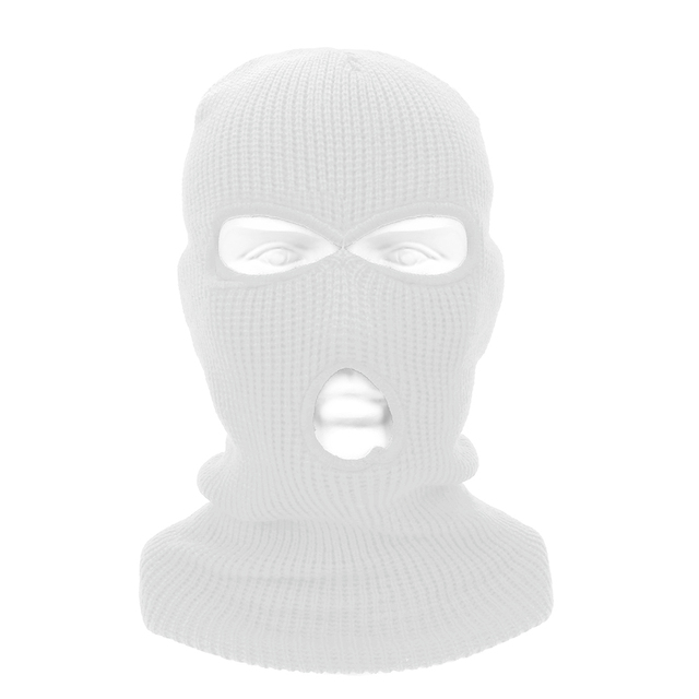 LEEPEE 3 Hole Balaclava Knit Hat Army Tactical Mask Winter Stretch Ski Full FaceMask Full Face Helmet 3
