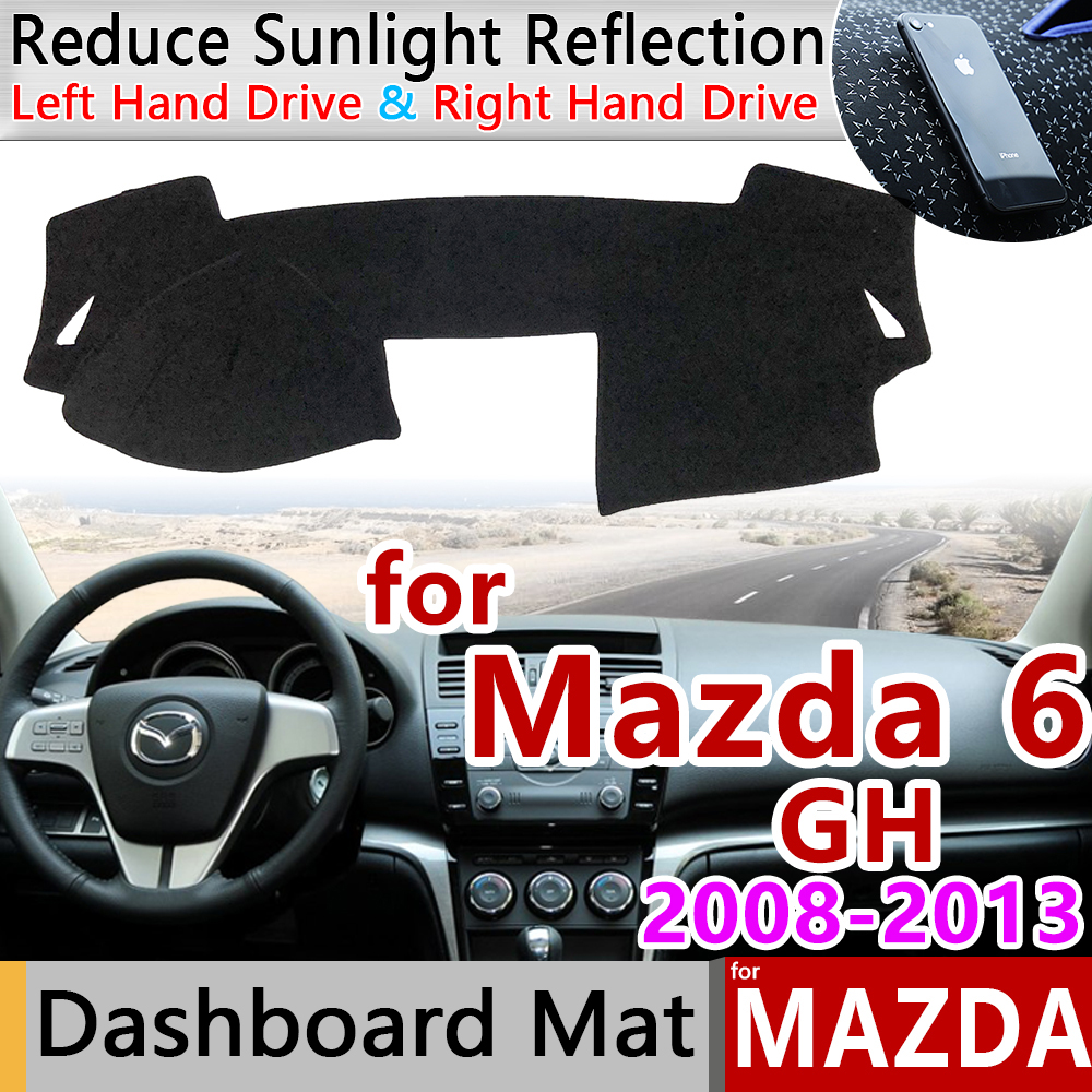 for Mazda 6 2008 2013 GH Anti-Slip Mat Dashboard Cover Pad Sunshade Dashmat Protect Accessories Atenza 2009 2010 2011 2012 Wagon