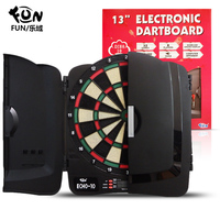 FUN home electronic darts board set safety soft scoring darts target multiplayer game for adults and children electronic target